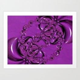 Shiny Purple Daisy Chain Art Print