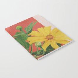 Winter blooming sun flower Notebook