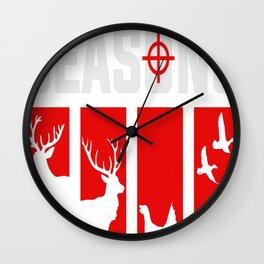 Four Seasons Of Hunting deer, elk, turkey, duck Wall Clock