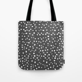 Black & White Stars & Shapes Tote Bag