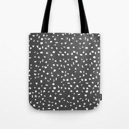 Black & White Stars & Shapes Tote Bag