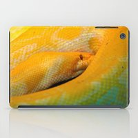 monty python iPad Cases featuring Albino Python by GardenGnomePhotography