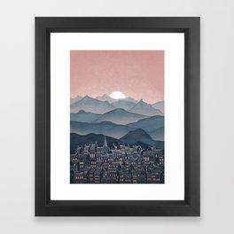 Seek - Sunset Mountains Framed Art Print