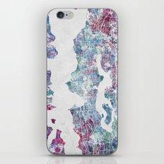 Seattle map iPhone & iPod Skin