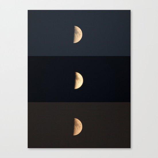 Waxing Crescent Canvas Print
