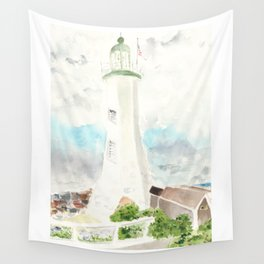 Morning at Scituate Lighthouse Wall Tapestry