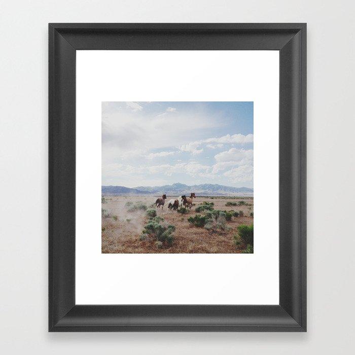 Running Horses Gerahmter Kunstdruck