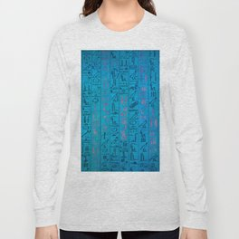 Ancient egyptian blu Long Sleeve T-shirt