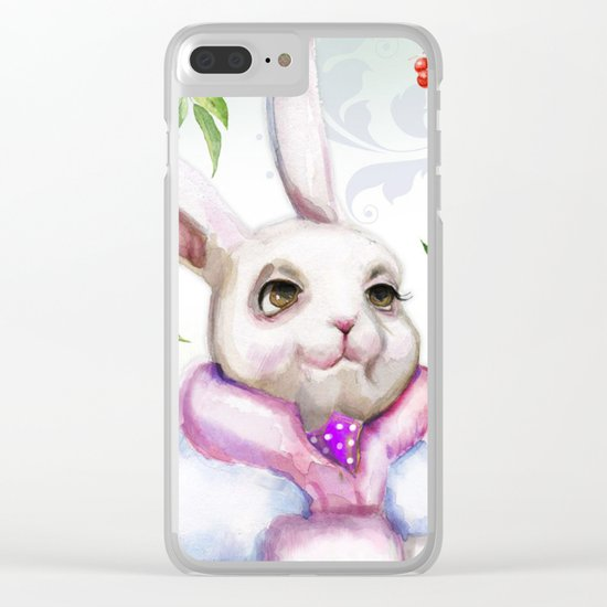 Winter animal #7 Clear iPhone Case