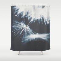 indigo Shower Curtains featuring indigo by Ingrid Beddoes