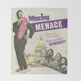 The Mincing Menace Throw Blanket