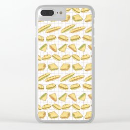 Sandwiches Set Stripes Seamless Vector Pattern, Hand Drawn Clear iPhone Case