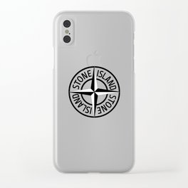 stone island logo Clear iPhone Case