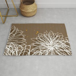 Brown Doodle Floral by Friztin Rug