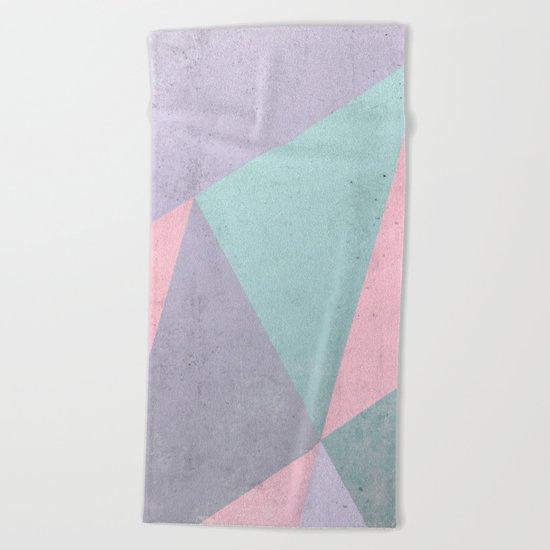 Floral Geometry Beach Towel