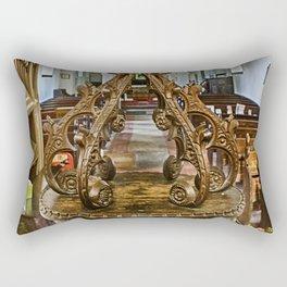 Pycombe Font Rectangular Pillow