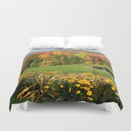 Vermont Foliage Watercolor Duvet Cover