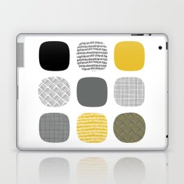 Abstract in mustard and grey Laptop & iPad Skin