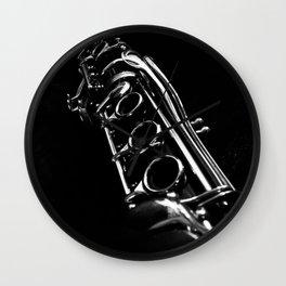 B&W Clarinet Wall Clock