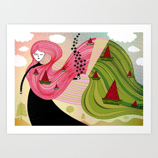 watermelon dream Art Print