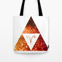 aries Tote Bags featuring Aries by haroulita