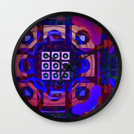 Blue with a touch of red Wall Clock