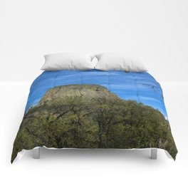 Devils Tower View Comforters
