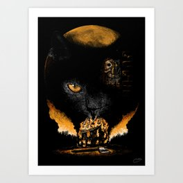 """The Black Cat"" - Edgar Allan Poe Series Art Print"