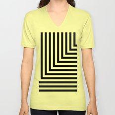 Black and White L Stripes // www.pencilmeinstationery.com Unisex V-Neck