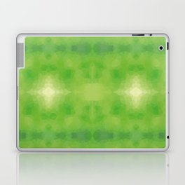 Kaleidoscopic design in soft green colors Laptop & iPad Skin