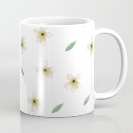 Anemones pattern with leaves Coffee Mug