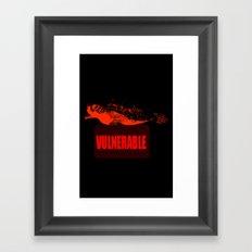 Vulnearable Sea turtle Framed Art Print
