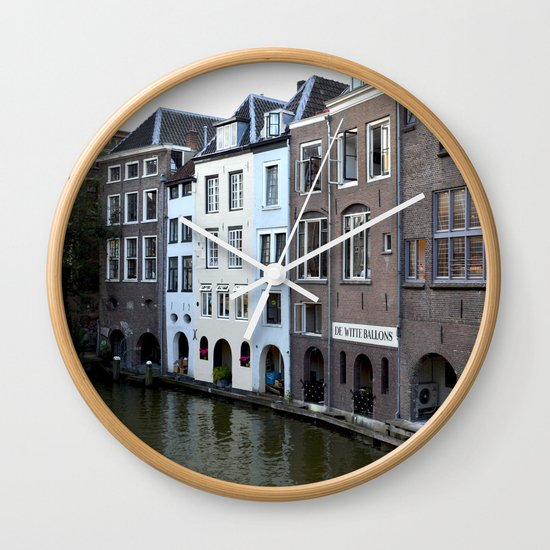 Water and bricks Wall Clock