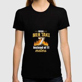 Real Men Handball 7 Meter Penalty ballsport T-shirt