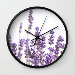 Purple Lavender #1 #decor #art #society6 Wall Clock