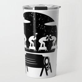 WOODCHOPPING WOMAN Travel Mug