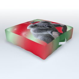 Christmas Koala Outdoor Floor Cushion