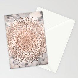 ROSE NIGHT MANDALA Stationery Cards