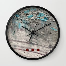 Wait // acrylic abstract texture modern painting Wall Clock