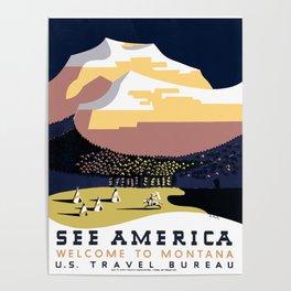 Vintage See America - Montana Travel Poster