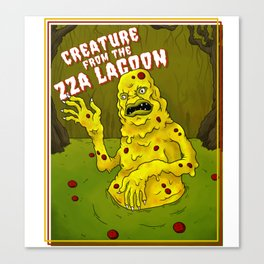 Creature from the Zza Lagoon Canvas Print