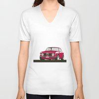 gta V-neck T-shirts featuring Alfa Romeo Giulia Sprint 1600 GTA. by Graphic Deluxe