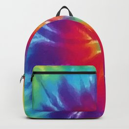 Tie Dye Swirl Pattern Backpack