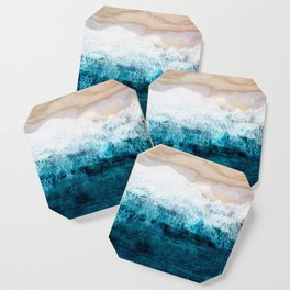 Watercolour Summer beach III Coaster