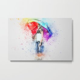 The Rainbow Within Metal Print