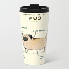 Anatomy of a Pug Metal Travel Mug