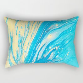BLUE AND YELLOW ABSTRACT ARTWORK Rectangular Pillow