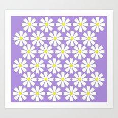 Lilac daisies Art Print