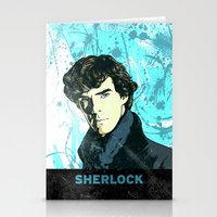 sherlock holmes Stationery Cards featuring Sherlock Holmes by illustratemyphoto