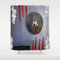 mirror Shower Curtains featuring Mirror Mirror by Pepita Selles